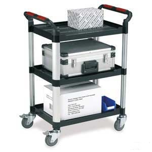 Utility Tray Trolleys with 3 Shelves