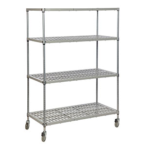 Vented Polymer Shelving System with 4 shelves