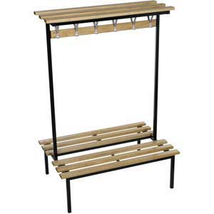 Evolve Range - Square Frame Duo Bench with Wood top shelf