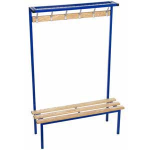 Evolve Range - Square Frame Solo Bench with Mesh top shelf