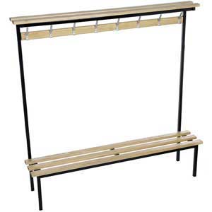 Evolve Range - Square Frame Solo Bench with Wood top shelf