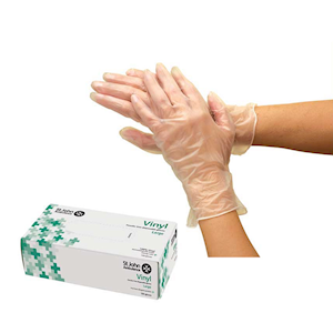 Vinyl Powder Free Gloves - Pack of 100