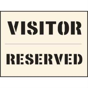 Visitor Reserved Industrial Stencil