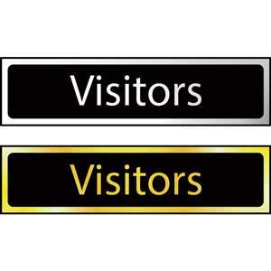 Visitors Mini Sign