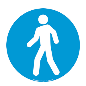 Walking Man Graphic Floor Marker