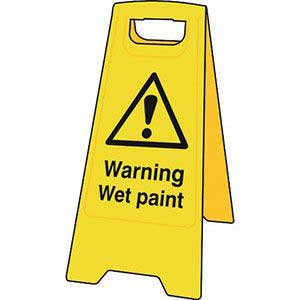 Warning Wet Paint Floor Stand Sign