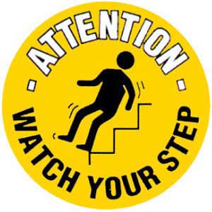 Watch Your Step Graphic Floor Marker