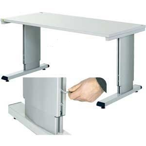 Height adjustable cantilever bench with Alien Key Adjustment