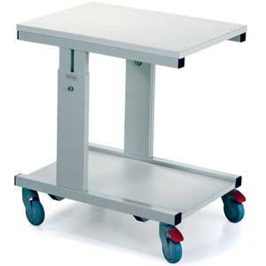 WB Height Adjustable Mobile Bench / Printer Unit 500x700