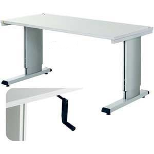 WB Retractable Handle Height Adjustable Cantilever Bench