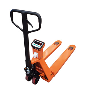 Weighing Pallet Trucks with Scales and Optional Printer with free UK delivery