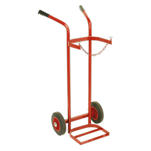 Single or double welding bottle trolleys