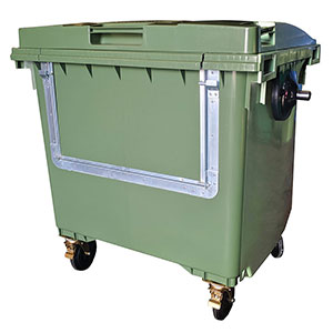Wheeled Recycling Container, drop door