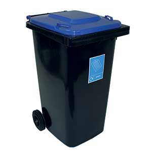 240L Wheelie Bins with Lid Colour Option & Recycling Labels with FREE UK Delivery
