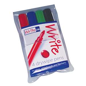 Dry-wipe pens for use on whiteboards, glassboards and paper