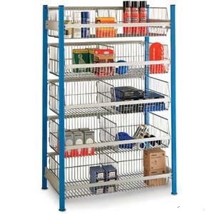 Wire Basket Shelving Bays