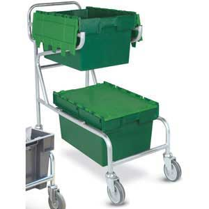Double Container Trolley, with 2 green containers