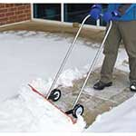 Wheeled Snow Blade with easy grip handle