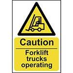 Warning Fork Lift Trucks Sign