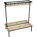 Evolve Range - Square Frame Duo Bench with Mesh top shelf