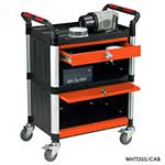 Utility Tray Trolleys with 3 Shelves with Drawer and Cabinet