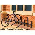Pillar bike rack