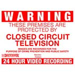 CCTV Warning Signs - 4 Pack
