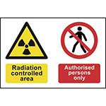 Radiation Controlled Area Authorised Persons Only Sign