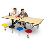8 Seat Rectangular Mobile Folding Table Units