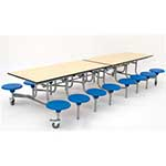 16 Seat Rectangular Mobile Folding Table Units