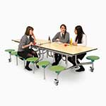 12 Seat Rectangular Mobile Folding Table Units