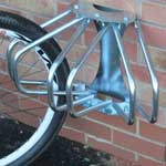 Picture of 1 & 3 Section Wall Mounted Adjustable Cycle Rack