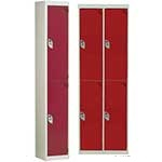 Picture of 2 compartment / 2 door Steel Lockers