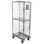 3 Sided Nestable Narrow Aisle Roll Cage