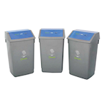 Picture of Recycling 3 Bin Kit with Flip Top Lids