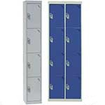 Picture of 4 compartment / 4 door Steel Lockers