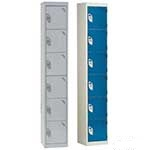 Picture of 6 compartment / 6 door Steel Lockers