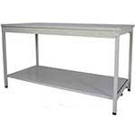 840mm High Open Mailroom Workbench with MFC Worktop & Lower Shelf