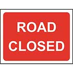 Picture of Road Closed Roll-up Sign