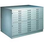 Picture of A1 or A0 - 10 Drawer Steel Plan Chest