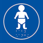 Picture of Baby Changing Blue Braille Sign
