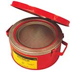 Picture of Justrite Bench Cans for flammable liquids