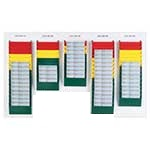 Picture of Cascading Document Display System - Mixed Colours