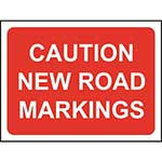 Picture of Caution New Road Markings Road Sign