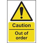 Picture of Caution Out Of Order Sign