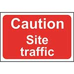 Picture of Caution Site Traffic Sign