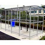 Picture of Clear Dome Roofed Smoking Shelters