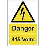 Picture of Danger 415 Volts Sign