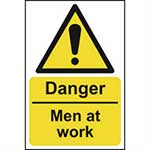 Picture of Danger Men At Work Sign