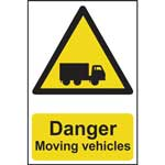 Picture of Danger Moving Vehicles Sign